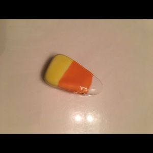 Jewelry - Hand crafted ceramic candy corn...wear on wire